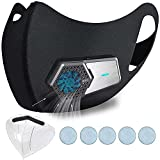 Personal Wearable Air Purifiers,Travel-Size Air Purifiers,Head-Mounted Portable Mini Air Purifier,Used for Tourism, Running, Cycling, Mountaineering, Outdoor Sports (Full Set,Black)