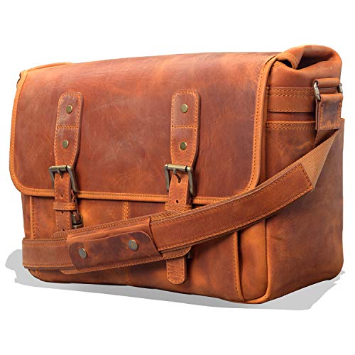 MegaGear Briefcase Satchel Portfolio Notebook Tablet Messenger Bag For Men & Women With Adjustable Shoulder Strap