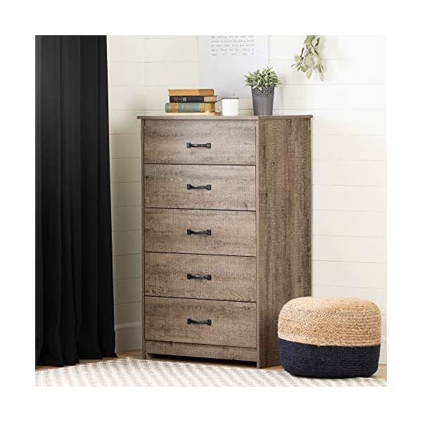 South Shore Tassio 5-Drawer Chest Weathered Oak