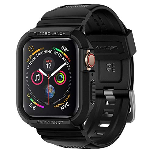 Spigen Rugged Armor Pro Designed for Apple Watch Case for 44mm Series 5 / Series 4 - Black