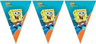 Unique Party 71556 - 3m Triangular SpongeBob SquarePants Bunting Flags