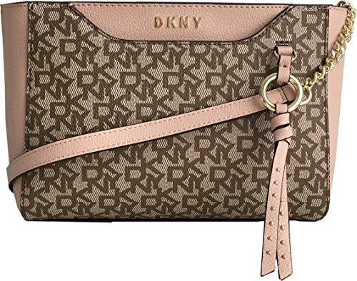 DKNY Medium Coated Logo And Leather Crossbody Bag