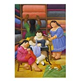 Famoso arte gordo costurera lienzopinturas de arte de pared Cuadros de Fernando Botero Poster e impresiones Decoracion de sala de estar 60x80 cm x1 sin marco
