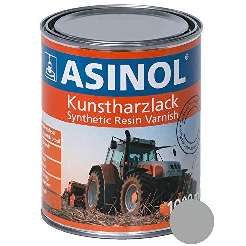 ASINOL RAL 9006 weissaluminium hochglänzend 1 Liter, 1.000ml Kunstharzlack