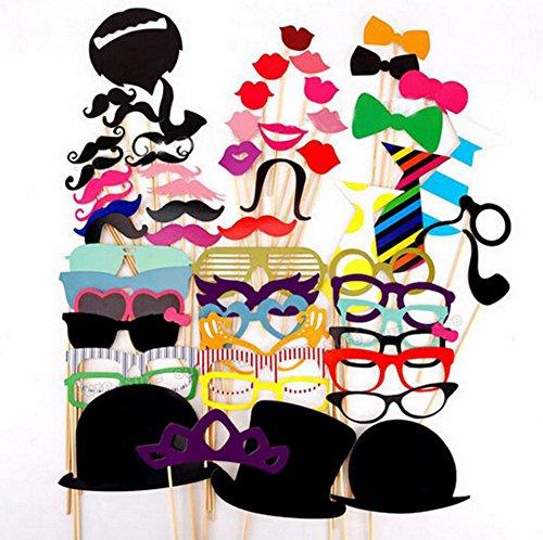 58x toruiwa Ferroviario de Dguisements Photobooth Masquerade accesorios para boda cumpleaos Party avev lunnetes/corbata/bigote con barra