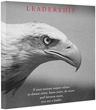 BUCKIE IY Canvas Picture Frames Black White Motivational Leadership Eagle Eye Wall Art Canvas product image