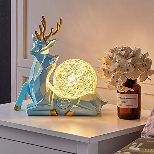 Lámpara De Mesa Pequeña De Nivel De Regalo Luz Nocturna, Simple Moderno Creativo Dormitorio Dormitorio Decoración De La Cama Lámpara LED Lámpara De Mesa Moderna (Color : E)