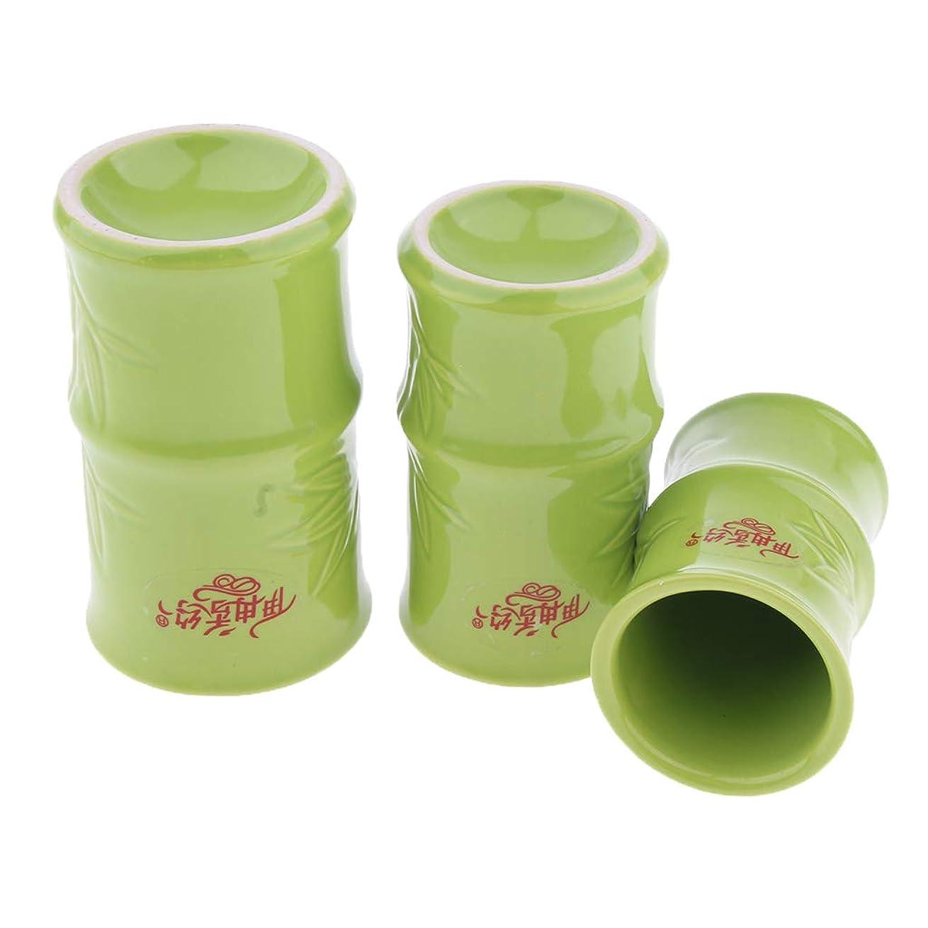 りんごインターネット質素なPerfeclan 中国 伝統的 健康法 吸玉 手軽 カッピングカップ 3個セット セラミック製 ボディ マッサージ