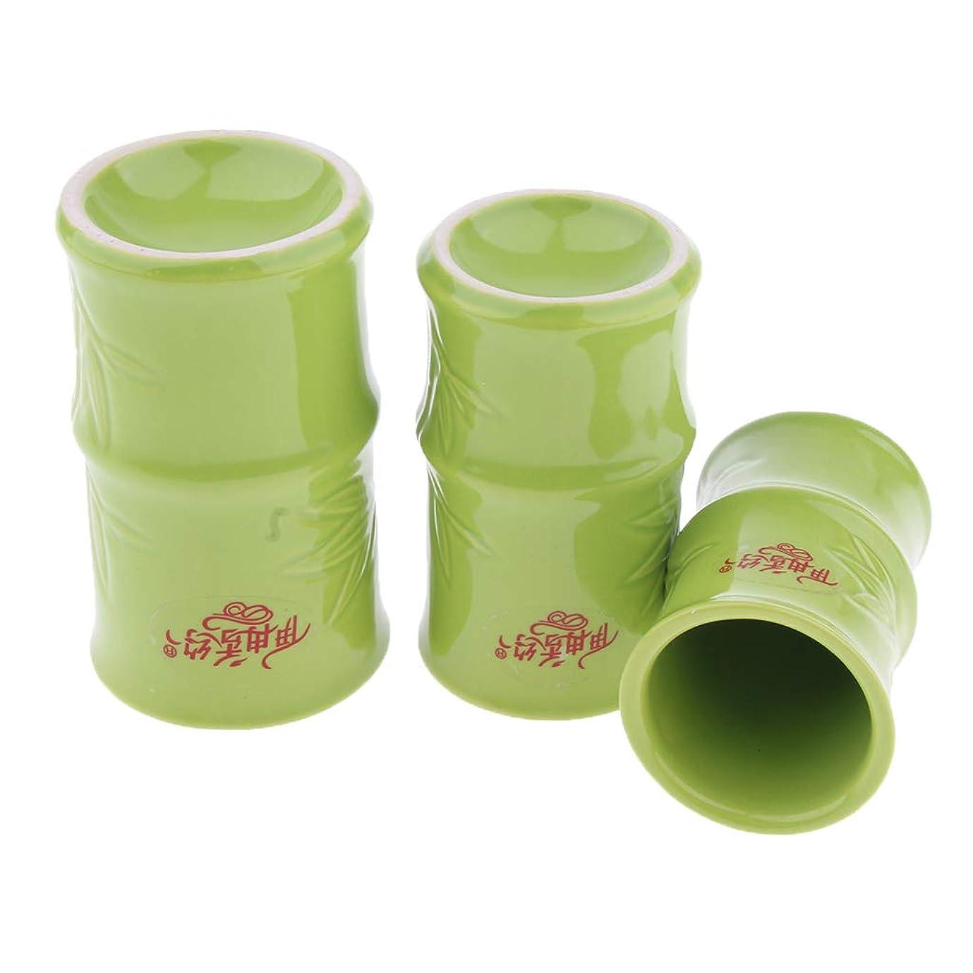 抜粋フォーラム肝Perfeclan 中国 伝統的 健康法 吸玉 手軽 カッピングカップ 3個セット セラミック製 ボディ マッサージ