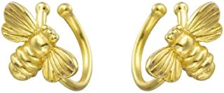 Cute Bee Ear Cuff Wrap Earrings S925 Sterling Silver for Women Girls Minimalist No Piercing Fake Helix Cartilage Cuffs Ear...
