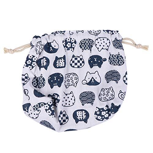TOYANDONA 1Pc Mode Adorable Double- Couche Japonais Style Cordon Bento Portable Mignon Chat Motif Boîte À Déjeuner pour Femmes Filles (Blanc)