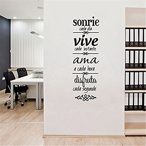Pegatina cita inspiradora para dormitorios despachos 57 x 17 cm de KINO