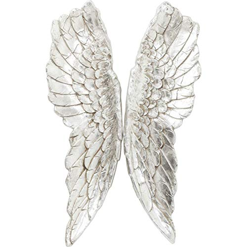 Kare Design Wandschmuck Angel Wings, Accessoires, Engelsflügel, Flügek Deko, silber, (H/B/T) 5x61x106cm
