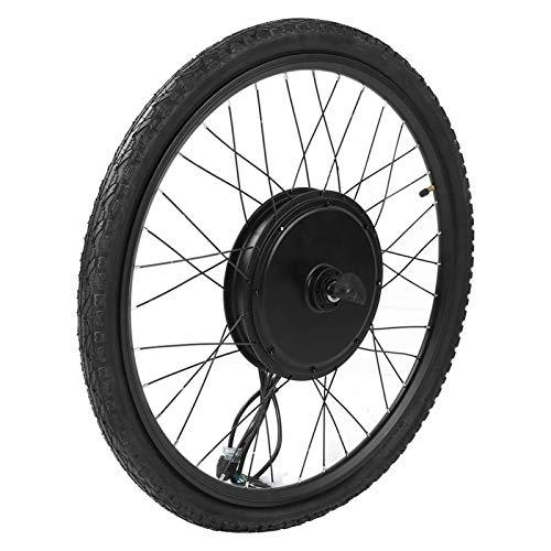 DAUERHAFT Juego de conversión de Bicicleta Juego de conversión de Motor de Rueda Delantera de Bicicleta eléctrica de 48 V 1000 W, Bicicleta eléctrica, para convertir Cualquier