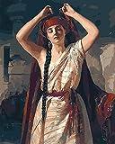 Xyywqybg Malen Nach Zahlen Auf Leinwand Für Erwachsene Kinder Gemälde Handgemalt Kit Persischer Tänzer Diy Geschenk Dekoration-50X65Cm, Frameless