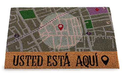 ARTE REGAL Felpudo Fibra de Coco Motivo Mapa