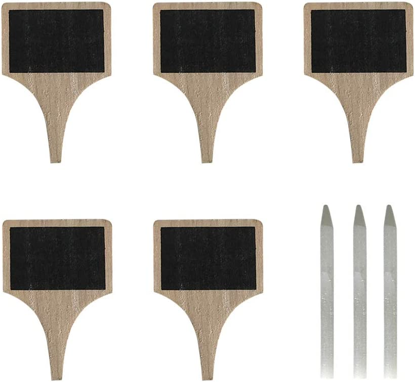 BESTONZON Department store 5pcs Wooden Cheese shipfree Marker Ta Labels Name