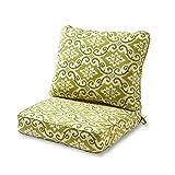 Greendale Home Fashions AZ7820-SHOREHAM Avocado Outdoor 2-Piece Deep Seat Cushion Set