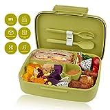 kupbox Brotdose Bento Box für Kinder, auslaufsichere Lunch Box mit fünf separat Fächer, BPA Frei,...