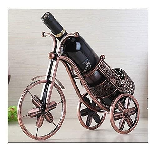 ZJZ Estante del Vino, Estante del Vino pequeño del Triciclo del Metal del Vintage del Vino del Estante del Vino Creativo