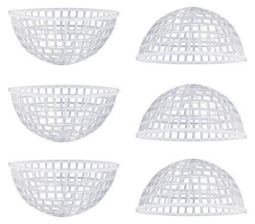 ハマナカ HAMANAKA ハマナカ MossBall用 あみあみボール 約 直径10cm 半球 6個入 白 H202-244-10