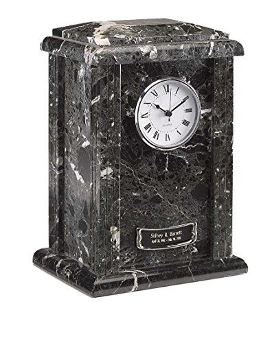 Elegante Beautifully Crafted Black Grain Marble Tower Urn