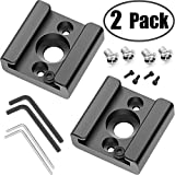 2 Pack Cold Shoe Mount Adapter Cold Shoe Bracket Standard Shoe Type with 1/4' Thread Hole for Camera DSLR Flash Led Light Monitor Video and More