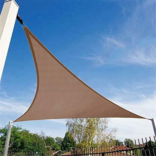 ZDYLM-Y Toldo Vela de Sombra Triangular con Cuerdas, toldo de toldo de Tela Oxford Impermeable, toldo de Vela en ángulo Recto para Patio, Bloque UV,Caqui