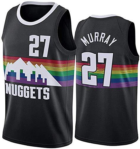 WSUN Maglia da Basket NBA da Uomo NBA Denver Nuggets # 27 Jamal Murray Vintage all-Star Jersey Cool Tessuto Traspirante Unisex Basketball Fan Uniform,M