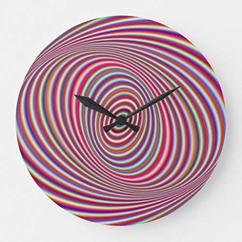 None Brand Neon Hypnose Große Wanduhr Runde Uhr