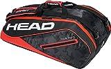 HEAD Tour Team 9R Supercombi Tennisschläger Tasche, Unisex, Tour Team 9R Supercombi, schwarz/rot