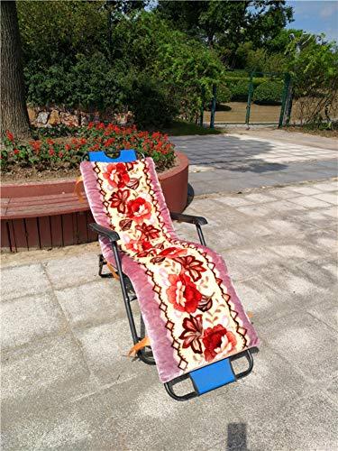 Lefran Coussin Chaise Lounger,Universel Épaissi Anti-Glisser Coussin De Chaise Pliante,Portable Lavable Coussins Inclinables Pad pour Intérieur Extérieur Patio J 48x145cm(19x57inch)
