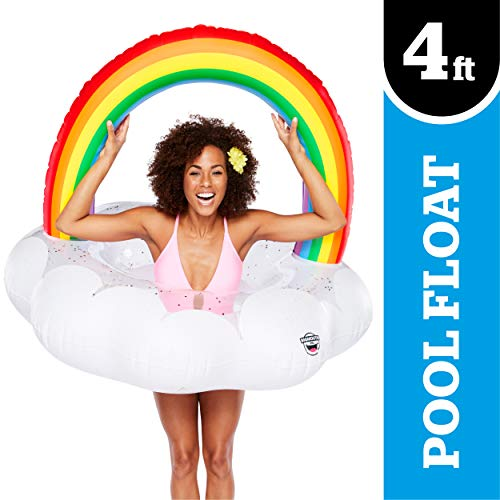 BigMouth Inc. Giant Inflatable Magical Pool Float with Glitter Inside, Patch Kit...
