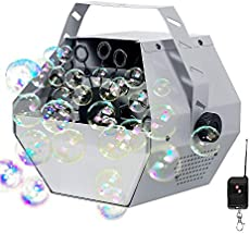 Portable Automatic Bubble Machine with Wireless Remote and Automatic Mode, softeen Automatic Bubble Blower Maker Machine for Indoor or Outdoor Use, Perfect for Party, Birthday, Wedding, Stage - Grey