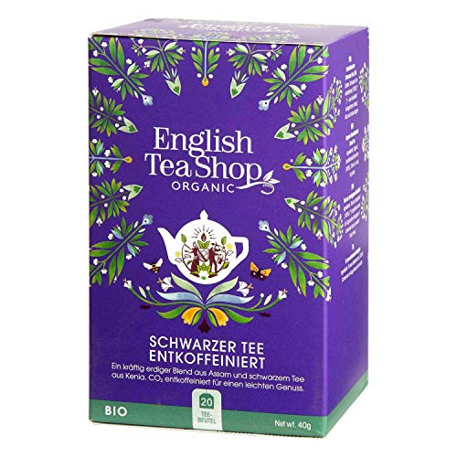English Tea Shop - Schwarzer Tee ENTKOFFEINIERT, BIO, 20 Teebeutel - (DE-Version)