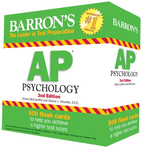 Barrons Ap Psychology Flash Cards 2nd Edition