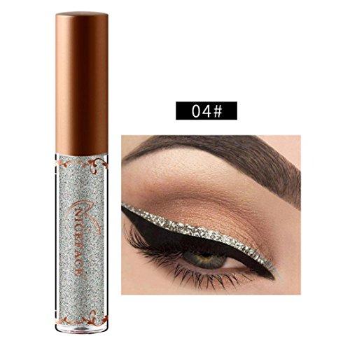 Blinkender Eyeliner, 12shage Metallic Shiny Liquid Lidschatten Wasserdicht Glitter Eyeliner (D)