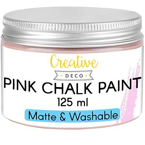Creative Deco Rosa Pintura de Tiza | 125 ml | Mate y Lavable Renovación de Muebles, Decoración y Decoupage | Posible Efecto de Gradiente