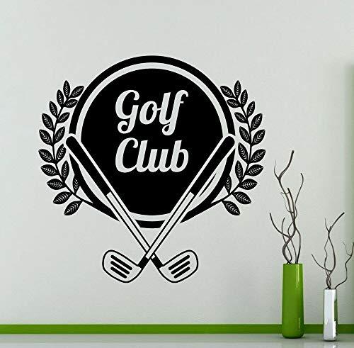 yaonuli golfclubsticker, vinylsticker, afneembaar, voor slaapkamer, woonkamer, decoratie van het huis, 63 x 46 cm