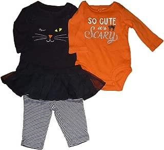 Carter's Baby Girls So Cute It's Scary & Black Cat Bodysuits & Tutu Pants