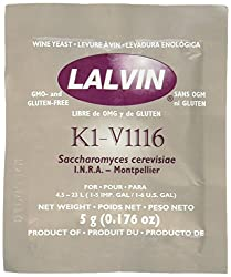 Strange Brew My-WNCV-DYMZ 10 Packs of KIV-1116 Lalvin Yeast for Winemaking