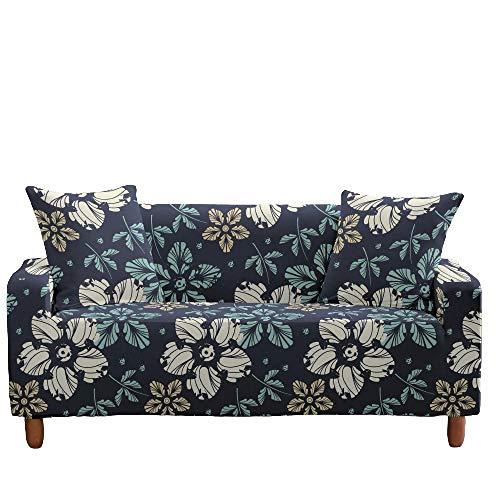 Funda elástica para sofá, Todo Incluido, Antideslizante, patrón Floral, Asiento, sofá, Fundas para sofá, Protector de Muebles, decoración del hogar,13,1 Seater(90-140cm)