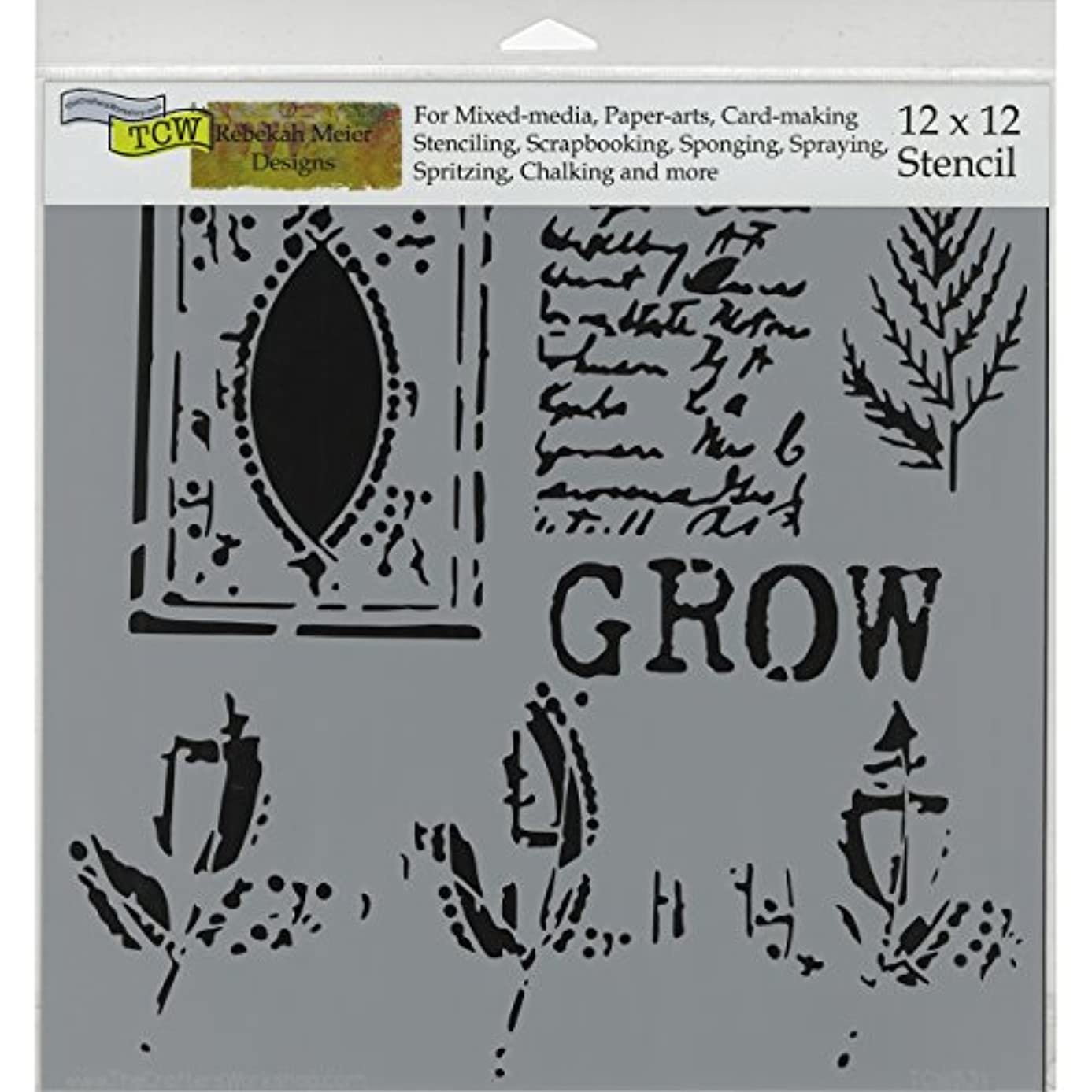 CRAFTERS WORKSHOP Grow Page Template, 12 by 12