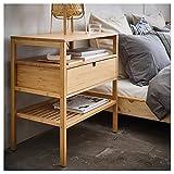 UK Bargain Seller NORDKISA Nachttisch Bambus 60x40 cm robust & leicht zu pflegen Beistelltisch Couchtisch Beistelltisch Tisch und Schreibtisch Möbel Umweltfre&lich