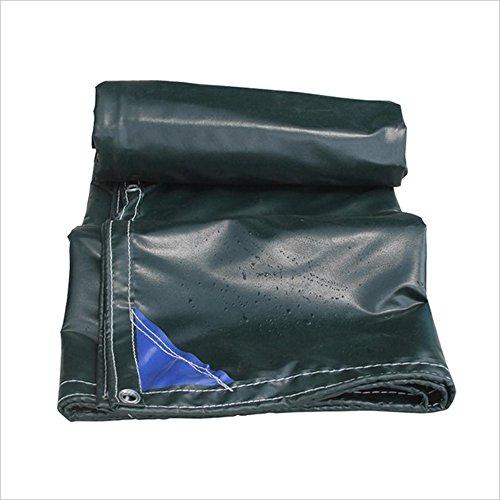 Dongyd Bâches de bâche imperméable à l'eau de bâche imperméable Verte de bâche de bâche imperméable Verte de Camping - 100% imperméable et UV Ont protégé - 600g / m², épaisseur 0.55mm