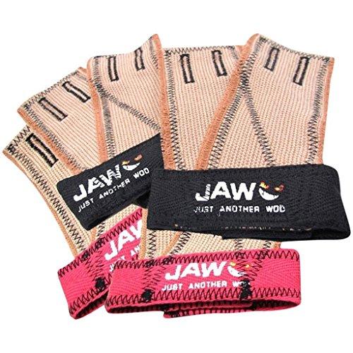 JAW Mandíbula Pullup Negro Guantes para Entrenamiento, Levantamiento