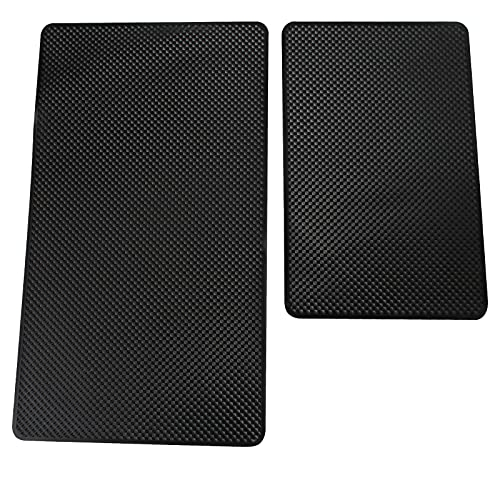 Tomedeks Lot de 2 tapis antidérapants en caoutchouc pour tableau de bord de voiture, résistants à la chaleur, antidérapants (27 x 15 cm, 19 x 12 cm)