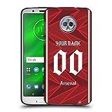 Head Case Designs Arsenal FC Coutume Personnalisé Maison 2020/21 Kit Coque Noir en Gel Doux...