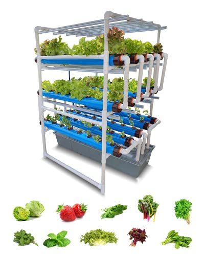 Pindfresh Hydroponics Kit for Home or Office - The Tashi Pro Indoor NFT Hydroponic System with Grow Lights for Growing 120 Leafy Greens - All Inclusive hydroponics kit from Seed to Harvest