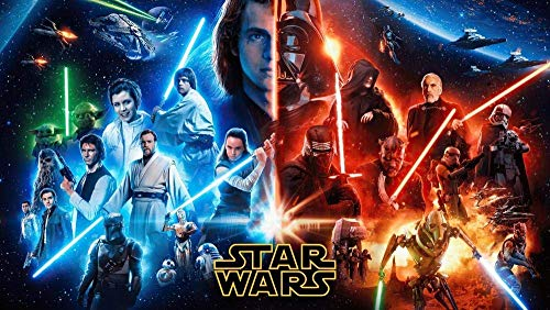 Adoff 1000 Piece Puzzles Star Wars Puzzle for Adult for Adults Teens Puzzles for Kids-Paper